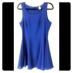 Blue Dividend H&M A-line Swing Dress SZ 12
